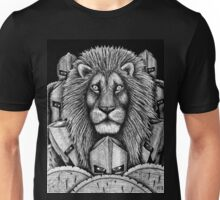 Spartan Lion black and white pen ink surreal drawing Unisex T-Shirt