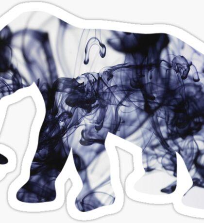 elephant - ink swirl Sticker