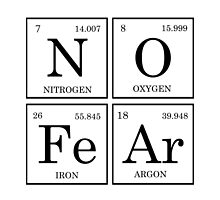 No Fear Periodic Table  by raineOn