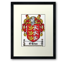 O'Brien Coat of Arms (Irish) Framed Print