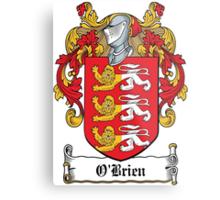 O'Brien Coat of Arms (Irish) Metal Print