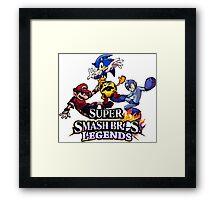 Super Smash Soccer Framed Print