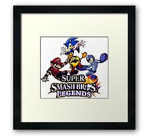 Super Smash Soccer Framed Print