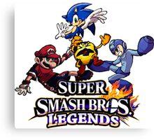 Super Smash Soccer Canvas Print