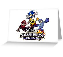 Super Smash Soccer Greeting Card