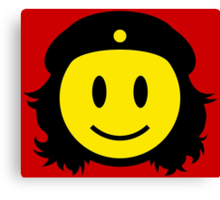 Che Guevera Smiley Canvas Print