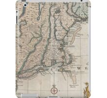 Vintage Map of The New England Coast (1747) iPad Case/Skin