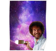 Bob Ross Paints Space Poster