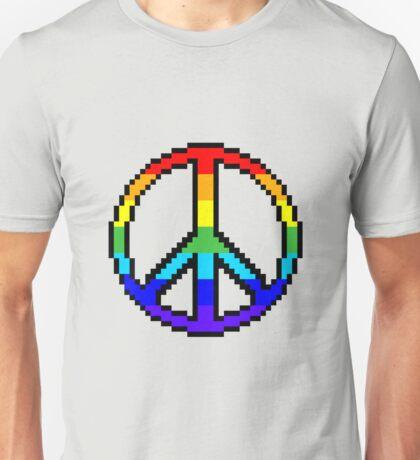 Pixel Peace Sign Unisex T-Shirt