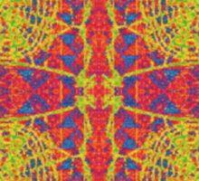 INFRARED KALEIDOSCOPIC SPIDER WEB DESIGN Sticker