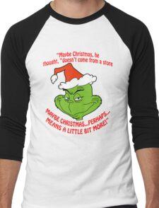 Grinch Funny Men's Baseball ¾ T-Shirt