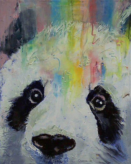 Panda Rainbow by Michael Creese