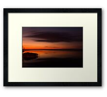 Sunset - Lake Geierswald - Germany Framed Print