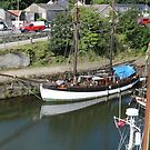 A White Boat at Charlestown by kalaryder