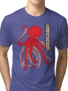 Pomegranate Octopus Octogranate Tri-blend T-Shirt
