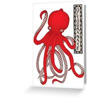 Pomegranate Octopus Octogranate Greeting Card