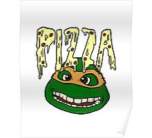 TMNT Mikey's Pizza Poster