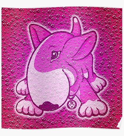 Let's Play English Bull Terrier Pink  Poster