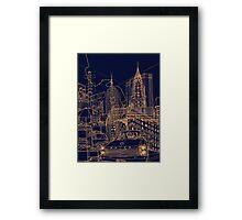New York! Night Framed Print