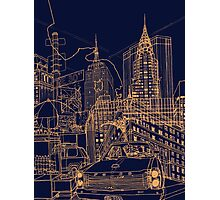 New York! Night Photographic Print
