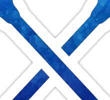 Lacrosse Stick Dark Blue Sticker