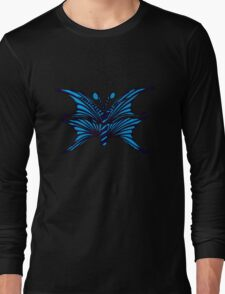 Blue Fantasy Butterfly Long Sleeve T-Shirt