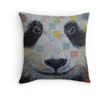 Panda Checkers Throw Pillow