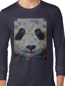 Panda Checkers Long Sleeve T-Shirt