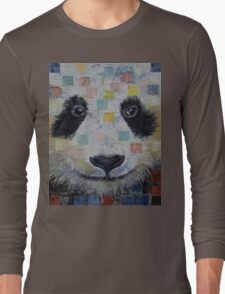 Panda Checkers Long Sleeve T-Shirt