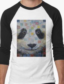 Panda Checkers Men's Baseball ¾ T-Shirt