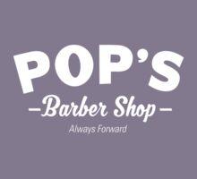 Pops Barber Shop - Always Forward Kids Tee