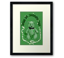 Hug This Lucky Irish Bear ♣ Framed Print