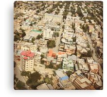 Colorful Kabul Afghanistan rooftops Canvas Print