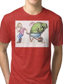 Oscar draggin' his dragon Tri-blend T-Shirt