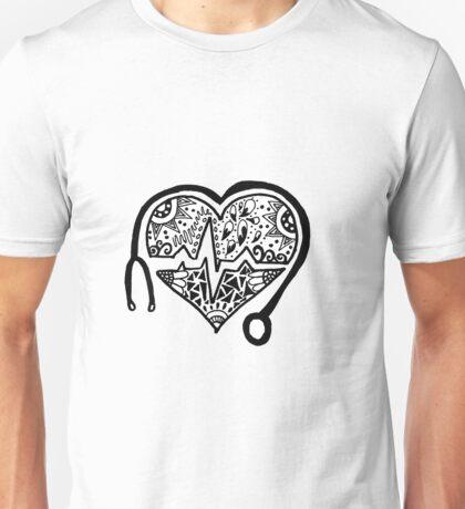 Zentangle Nursing Heart Unisex T-Shirt