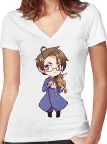 Austria - Hetalia Women's Fitted V-Neck T-Shirt