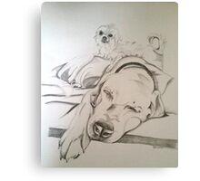 """Patron"" for MANA SOS ADOPTIONS Canvas Print"