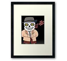 Sans Valentine's Detective Agency Framed Print