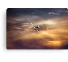 RCAF Snowbirds At Sunset Canvas Print