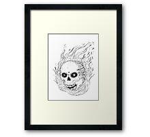Spicy Skull Framed Print