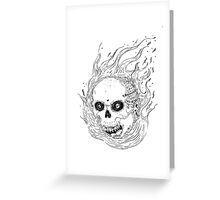 Spicy Skull Greeting Card