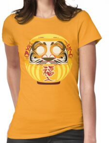 Japanese Art Gold Yellow Womens Fitted T-Shirt