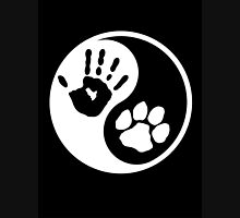 Dog  Human Ying Yang Paw Print Adopt Pet Shirt Stickers Smart Phone Cases Posters Cards Unisex T-Shirt