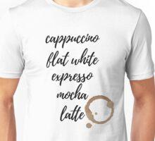 Cappuccino Coffee Unisex T-Shirt