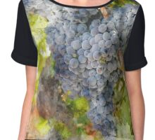 Grapes in the Vineyard Chiffon Top