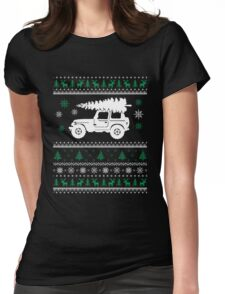 Christmas - Jeep Ugly Christmas Womens Fitted T-Shirt