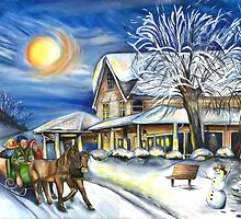 Sleigh Ride in the Country by patriciaarnold