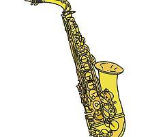Sax Sketch by thyearlofgrey