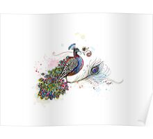 Royale Paisley Peacock Poster