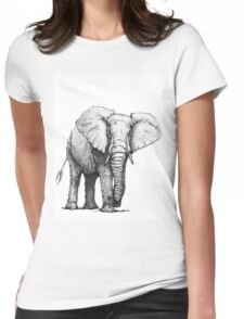 Hand drawn elephant Womens Fitted T-Shirt